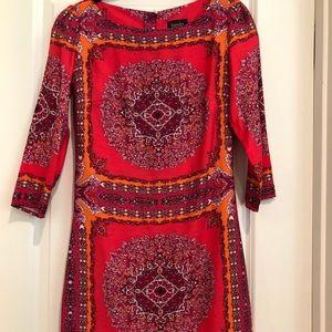 Beautiful red/orange print dress